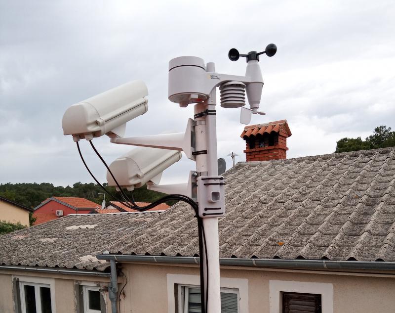 Nove kamere meteorske mreže i meteorološka postaja na Lošinju